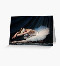 Tarjeta de felicitación Swan by moonlight