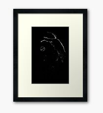 Brush and Ink - 0166 - Nap Time Framed Print