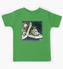 High Top Heaven Converse Canvas Gym Shoes Tennis Running Jogging Basketball Track Sports  Kids Tee