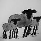 Inky Sheep 5 by TraceyMackieArt