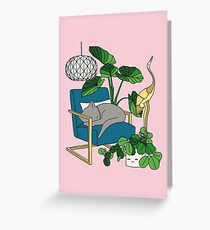 Cat nap by Elebea Greeting Card