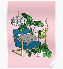 Cat nap by Elebea Poster