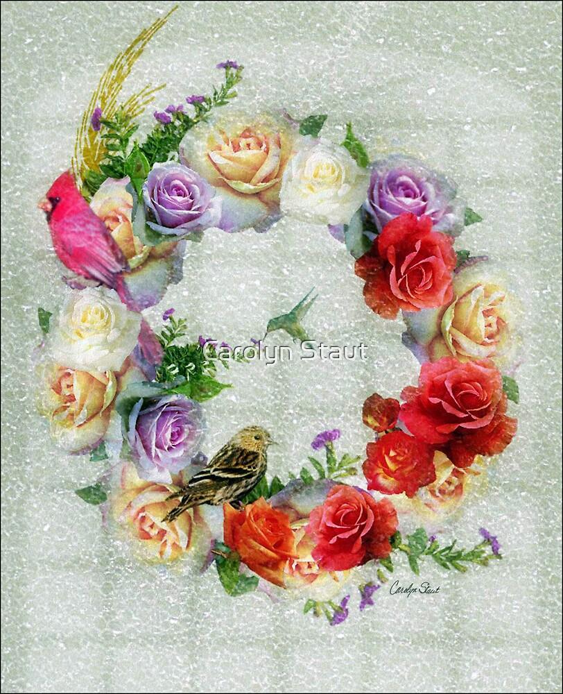 Rose Petal Greetings by Carolyn Staut