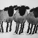 Inky Sheep 4 by TraceyMackieArt