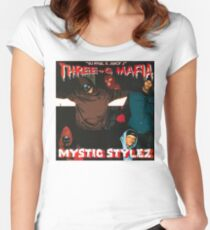 THREE 6 MAFIA - MYSTIC STYLEZ Women's Fitted Scoop T-Shirt
