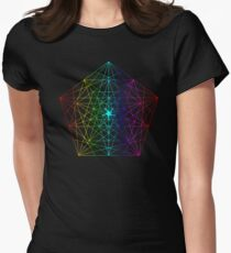 Abstract Geometry: Rainbow Fractal Womens Fitted T-Shirt
