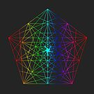 Abstract Geometry: Rainbow Fractal by Thomas Erlandsen