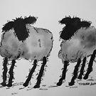 Inky Sheep 3 by TraceyMackieArt