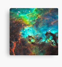 Green Nebula Canvas Print
