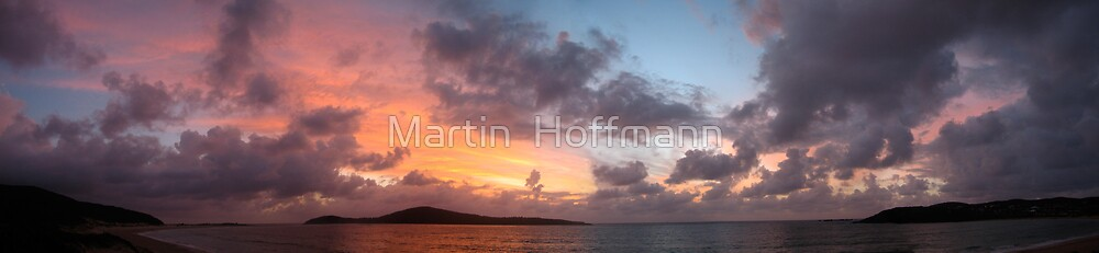 sunrise colored sky by Martin  Hoffmann