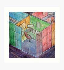 Rubiks Cubicle Art Print