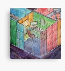 Rubiks Cubicle Canvas Print