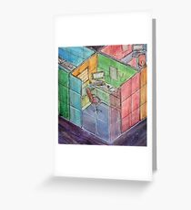 Rubiks Cubicle Greeting Card