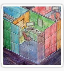 Rubiks Cubicle Sticker