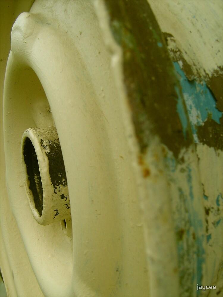Old fashioned hose reel. by jaycee