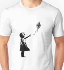 Ethereum Balloon Girl - Banksy Loves Bitcoin Series (the ORIGINAL design) Unisex T-Shirt