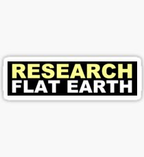 Research Flat Earth Sticker