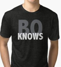 BO KNOWS FOOTBALL Tri-blend T-Shirt