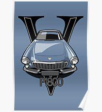 Volvo 1800P Vintage Sports Car Retro Print Poster