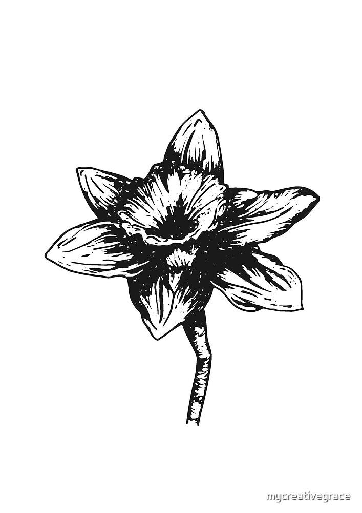 Fleur De Naissance De Mars De Jonquille Dessin De Stylo