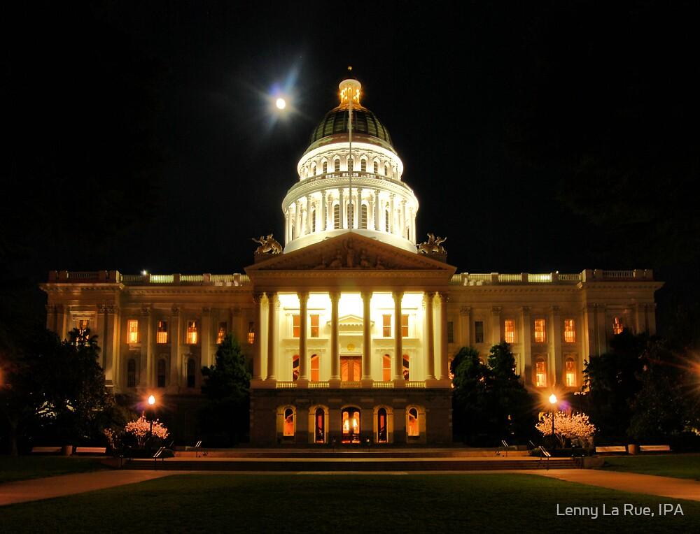California State Capitol in Sacramento at night 2 by Lenny La Rue, IPA