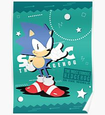Sonic The Hedgehog-The most famous hedgehog in the world Poster