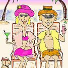 Couple on the Beach by jeanne66