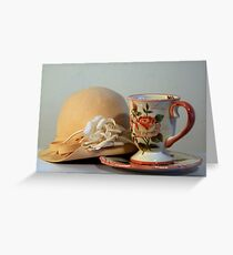 Cup & Hat Greeting Card