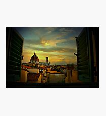 A Window on Florence Photographic Print