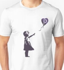 PIVX Balloon Girl - Banksy Loves Bitcoin Series  Unisex T-Shirt