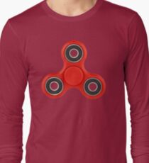Fidget Spinner Red Long Sleeve T-Shirt
