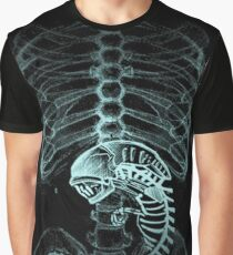 X-ray Alien Graphic T-Shirt