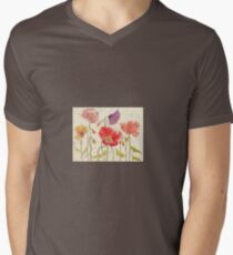 My Favorite Poppies Men's V-Neck T-Shirt
