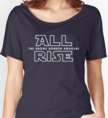 ALL RISE For Aaron Judge Yankees Bronx Bomber Star Wars Women's Relaxed Fit T-Shirt