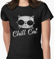 Chill Cat Women's Fitted T-Shirt