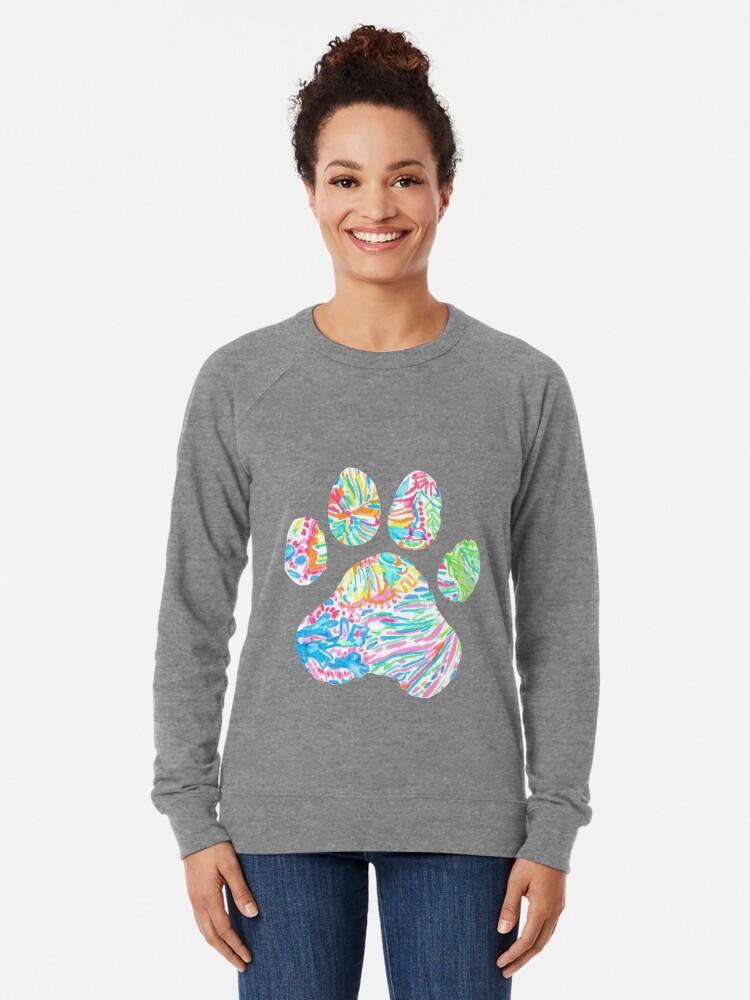 Alternative Ansicht von Vibrierender floraler Pfotenabdruck Leichter Pullover