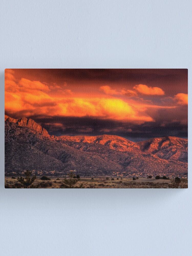 Alternate view of Desert Fire Canvas Print