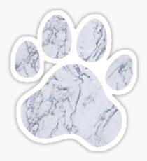 Marble Paw Print Sticker