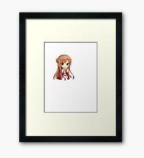 chibi asuna Framed Print