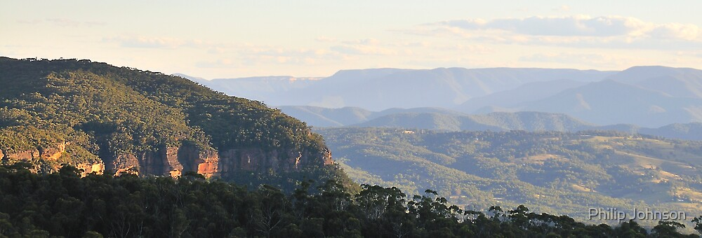 Blue Mountains View - The Blue Mountains National Park - The HDR Series by Philip Johnson