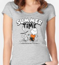 Its Summer Time Women's Fitted Scoop T-Shirt