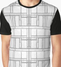 Pattern - Lattice -White & Gray Graphic T-Shirt