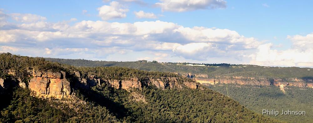 Edge To Edge, - Blue Mountains Series, NSW Australia by Philip Johnson