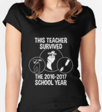 This Teacher Survived The 2016 2017 School Year T-shirts Women's Fitted Scoop T-Shirt