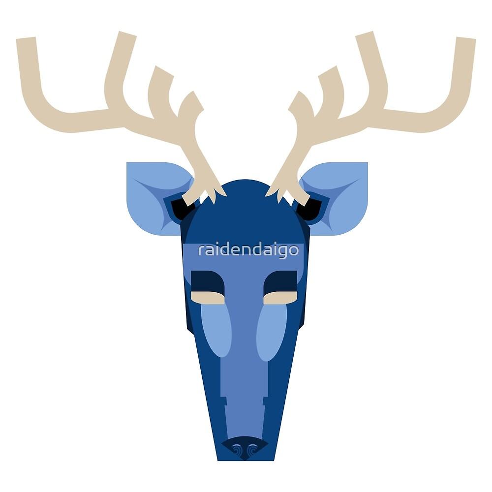 The Blue Deer Messenger  by raidendaigo