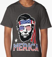 Merica - Funny Abe Lincoln 4th of July Hip American T-shirt Long T-Shirt