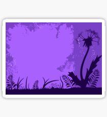 Night dandelion Sticker