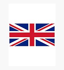 United Kingdom Flag - Union Jack T-Shirt Photographic Print