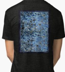 marbled paper - ink blue sea Tri-blend T-Shirt