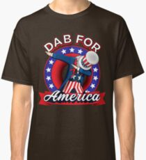 Funny Dabbing Uncle Sam 4th of July Independence Day T-shirt Classic T-Shirt
